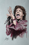 Jagger Framed Prints - Mick Jagger Framed Print by Melanie D