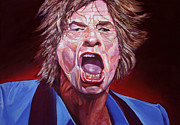 Rolling Stones Originals - Mick Jagger by Merv Scoble