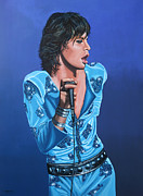 The Rolling Stones Art Work Prints - Mick Jagger Print by Paul Meijering