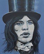 Writer Painting Originals - Mick Jagger by Shirl Theis