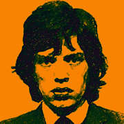 Alcatraz Prints - Mick Jagger square Print by Wingsdomain Art and Photography