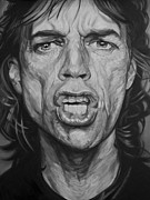 Mick Jagger Drawings - Mick Jagger by Steve Hunter