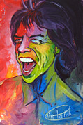Mick Painting Originals - Mick Jagger by Tim Patch