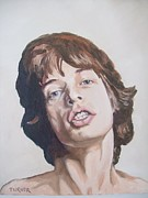 Mick Painting Originals - Mick Jagger by Tim Turner