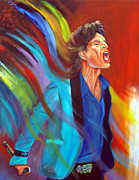 Hall Of Fame Painting Framed Prints - Mick Jagger  Framed Print by To-Tam Gerwe