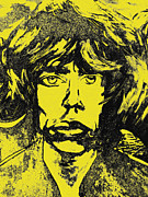 Rolling Stones Mixed Media Posters - Mick Jagger Two Poster by Kevin J Cooper Artwork