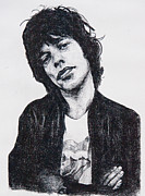 Mick Jagger Drawings - Mick by John Emery