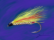 Trout Stream Drawings - Mickey Finn by Jean Pacheco Ravinski