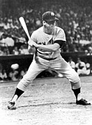 Mickey Mantle Photos - Mickey Mantle At Bat by Underwood Archives