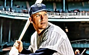 Mickey Mantle World Series Framed Prints - Mickey Mantle Framed Print by Florian Rodarte