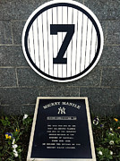 Yankee Legend Posters - Mickey Mantle Tribute Yankee Stadium Poster by Amy Cicconi