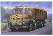 1950s Truck Painting Framed Prints - Mickey Mouse Foden. Framed Print by Mike  Jeffries