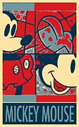 Caricature Posters Framed Prints - MICKEY MOUSE in HOPE Framed Print by Rob Hans