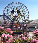 Paradise Pier Posters - Mickeys Fun Wheel Poster by Doug Kreuger
