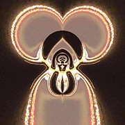 Neon Effects Prints - Mickeys Ora Print by Michael Bates