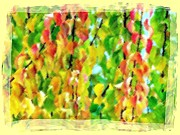 Dramatic Digital Art - Micro Linear Apricot Leaves by Will Borden
