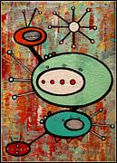 Microcosmic Satelite Print by Debra Jacobson
