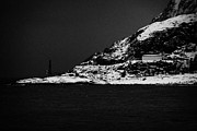 Norwegian Fishing Village Prints - Microwave Relay Communications Station On The Outskirts Of Oksfjord During Winter Norway Europe Print by Joe Fox