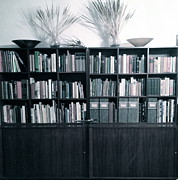 Library Digital Art - Midcentury Modern Bookcase Fade by Diane Phelps