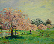 Park Scene Paintings - Midday at the Park by Monica Caballero