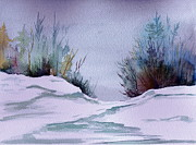 Snowscape Painting Posters - Midday Winter  Poster by Brenda Owen