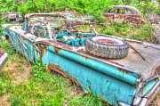 Rusted Cars Photos - Middle Aged Spare Tire- Auto Personalities #6 by Dan Stone