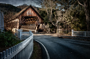 Covered Bridges Photos - Middle Bridge - Woodstock Vermont by Thomas Schoeller