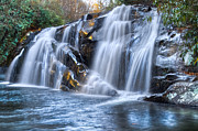 Tn Posters - Middle Falls At Snowbird Creek Poster by Debra and Dave Vanderlaan