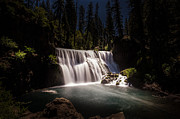Moonlit Night Framed Prints - Middle McCloud Falls Framed Print by Scott McGuire