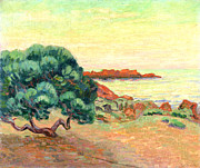 Shores Paintings - Midi Landscape by Jean Baptiste Armand Guillaumin