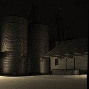 Feed Mill Photo Originals - Midnight at the Mill by Doug Hubbard