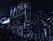 Magical Place Photographs Prints - MidNight At The Tower of Terror Print by Thomas Woolworth