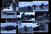 Beachhead Framed Prints - Midnight Battle Collage Framed Print by Thomas Woolworth