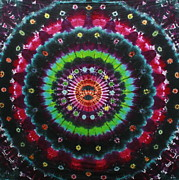 Tie Dye Tapestries - Textiles Metal Prints - Midnight Bloom Metal Print by Carl McClellan