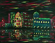 Glow Painting Originals - Midnight City by Anastasiya Malakhova