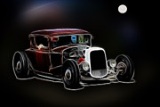 White Walls Framed Prints - Midnight Cruisers Framed Print by Steve McKinzie