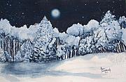 Sokolovich Painting Prints - Midnight Frost Print by Ann Sokolovich