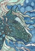 Organic Paintings - Midnight Horse by Tamara Phillips