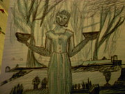 Featured Drawings - Midnight In The Garden of Good and Evil by Embeth Wilmoth