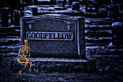 Companion Digital Art - MidNight In The Graveyard With A Goodfellow by Thomas Woolworth