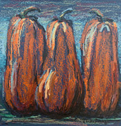 Linda Krukar Metal Prints - Midnight in the pumpkin patch Metal Print by Linda Krukar