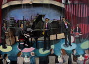 Soul Musicians Paintings - Midnight Jazz by Donald W White