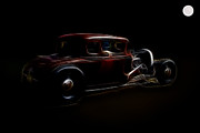 Model A Sedan Prints - Midnight Kruzer Print by Steve McKinzie
