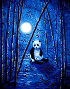 Laura Milnor Iverson Painting Originals - Midnight Lullaby in a Bamboo Forest by Laura Iverson