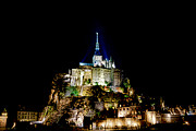 Pilgrimage Prints - Midnight Mont Saint Michel Print by Olivier Le Queinec