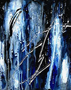Light And Dark  Mixed Media Prints - Midnight Rain II Print by Kume Bryant