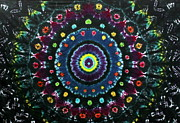 Tie Dye Tapestries - Textiles Metal Prints - Midnight Romance Metal Print by Carl McClellan
