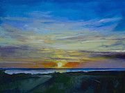 Impasto Oil Paintings - Midnight Sun by Michael Creese