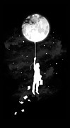Balloon Digital Art Prints - Midnight traveler Print by Budi Satria Kwan
