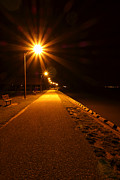 Promenade Photos - Midnight Walk by Olivier Le Queinec